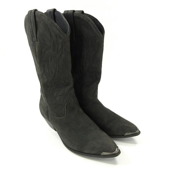 b9f653b302c ACME Shoes   61 Boots Rockabilly 65 Black Suede Silver   Poshmark